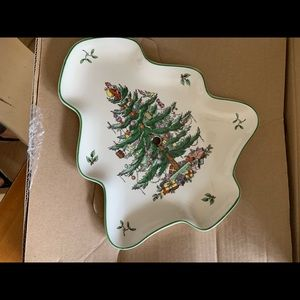 Spode 2 tier Christmas Plate New in box